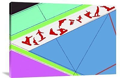 Naxart 'Flying Boards' Graphic Art Print on Canvas; 15'' H x 22'' W x 1.5'' D