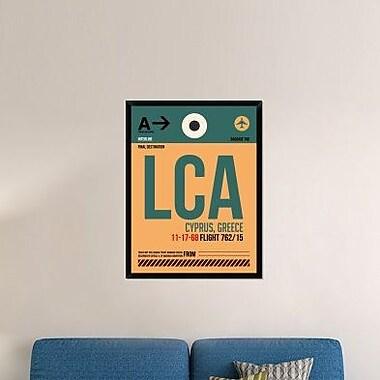 Naxart 'LCA Cyprus Luggage Tag I' Framed Graphic Art Print on Canvas; 42'' H x 32'' W x 1.5'' D
