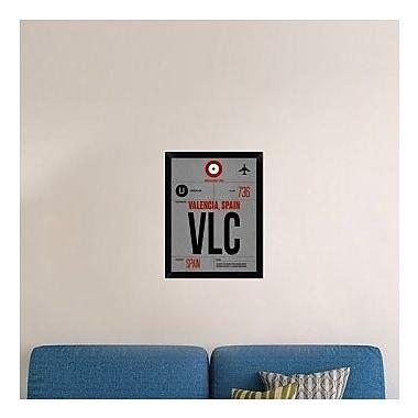 Naxart 'VLC Valencia Luggage Tag I' Framed Graphic Art Print on Canvas; 26'' H x 20'' W x 1.5'' D