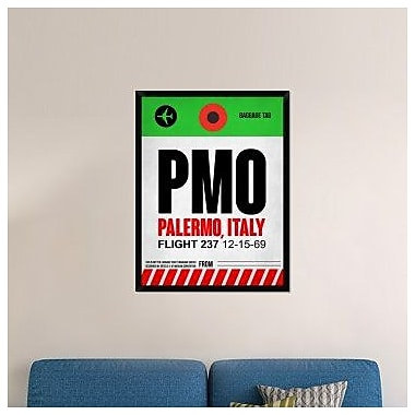 Naxart 'PMO Palermo Luggage Tag I' Framed Graphic Art Print on Canvas; 42'' H x 32'' W x 1.5'' D