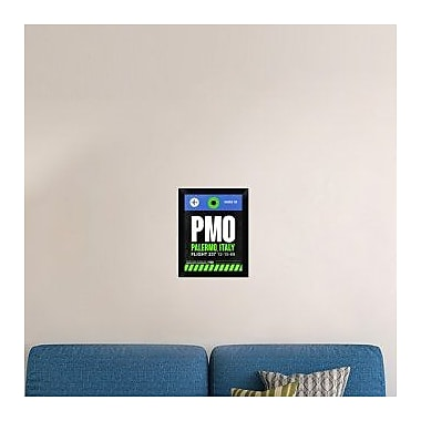 Naxart 'PMO Palermo Luggage Tag II' Framed Graphic Art Print on Canvas; 18'' H x 14'' W x 1.5'' D