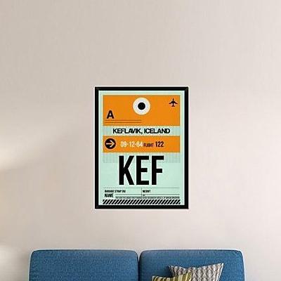 Naxart 'KEF Keflavik Luggage Tag II' Framed Graphic Art Print on Canvas; 42'' H x 32'' W x 1.5'' D
