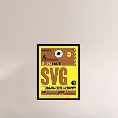 Naxart 'SVG Stavanger Luggage Tag I' Framed Graphic Art Print on Canvas; 42'' H x 32'' W x 1.5'' D