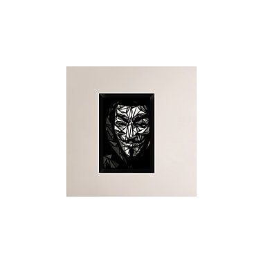 Naxart 'Guy Fawkes' Framed Graphic Art Print on Canvas; 26'' H x 18'' W x 1.5'' D