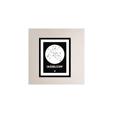 Naxart 'Dusseldorf White Subway Map' Framed Graphic Art Print; 30'' H x 24'' W x 1.5'' D