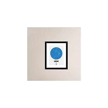 Naxart 'Miami Blue Subway Map' Framed Graphic Art Print; 22'' H x 18'' W x 1.5'' D