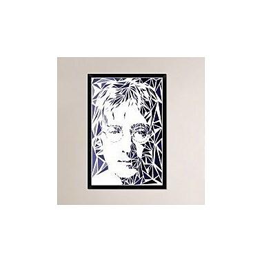 Naxart 'John Lennon' Framed Graphic Art Print on Canvas; 38'' H x 26'' W x 1.5'' D