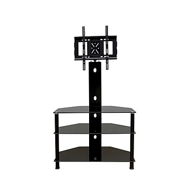PRIME MOUNTS 3 Tier TV Stand with integrated mount for up to 65