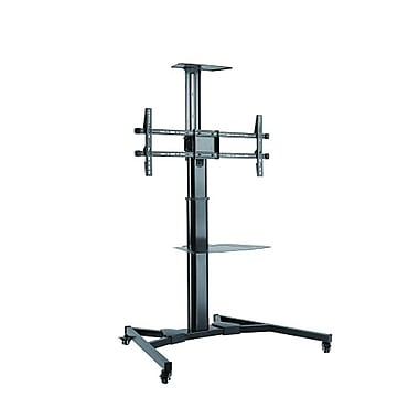 PRIME MOUNTS Adjustable TV cart with shelf for 37-70