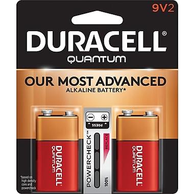 Duracell® – Piles alcalines 9V Quantum, paq./2