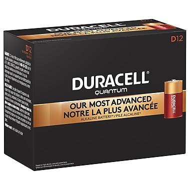 Duracell – Piles Quantum D, 12/paquet