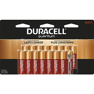 Duracell® Quantum AA Alkaline Batteries, 16/Pack