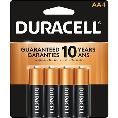 Duracell® AA Alkaline Batteries, 4-Pack