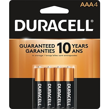 Duracell® - Piles alcalines AAA, paq./4
