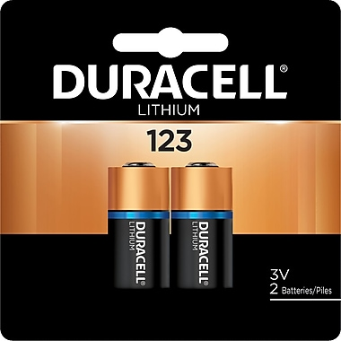 Duracell® DL123A-2 3V Ultra Photo Lithium Battery, 2-Pack