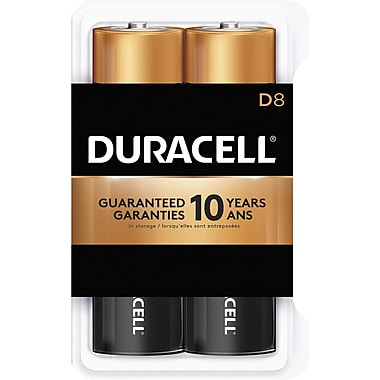 Duracell® - Piles alcalines D, paq./8