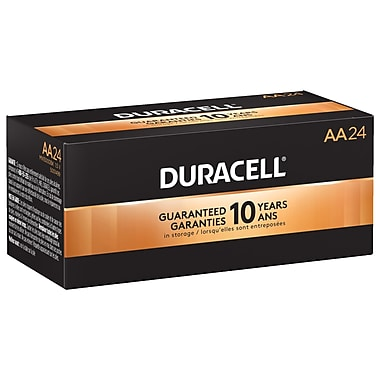 Duracell® CopperTop AA Alkaline Batteries, 24/Box