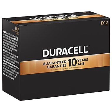 Duracell® CopperTop D Batteries, 12/Pack
