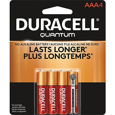 Duracell® – Piles alcalines AAA Quantum, paq./4