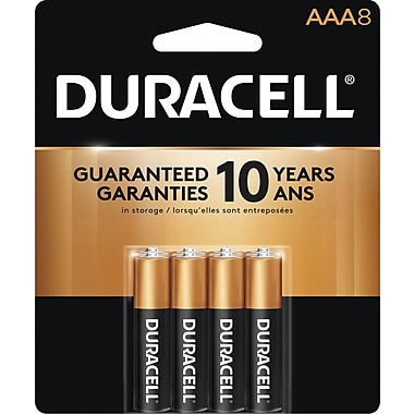 Duracell® - Piles alcalines AAA, paq./8