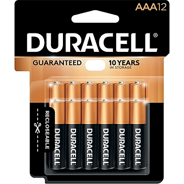 Duracell® - Piles alcalines, AAA, paq./12