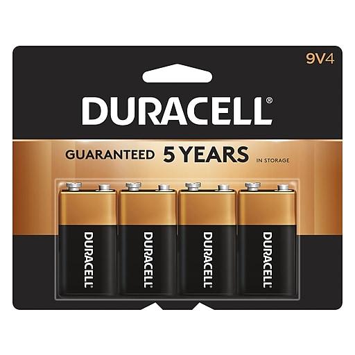 duracell 9 volt alkaline batteries 4 pack staples. Black Bedroom Furniture Sets. Home Design Ideas