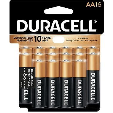 Duracell® Coppertop AA Alkaline Batteries, 16/Pack (MN15RT16Z)