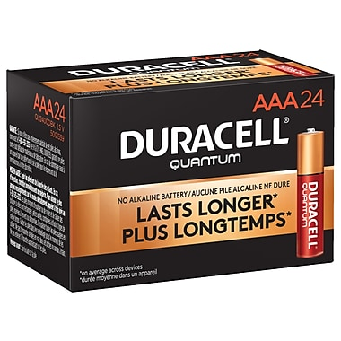 Duracell® – Piles alcalines AAA Quantum, paq./24