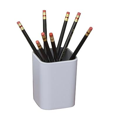 Fusion Pencil Cup, White + Gray (37524)