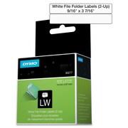 """Dymo® 30277 0.56"""" File Folder Label Roll, White"""