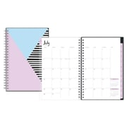 2017-2018 Ampersand for Blue Sky 5x8 Weekly/Monthly Planner, Blue Angle (103193)