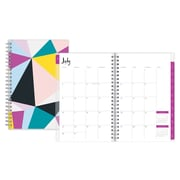 2017-2018 Ampersand for Blue Sky 5x8 Weekly/Monthly Planner, Facets (103191)