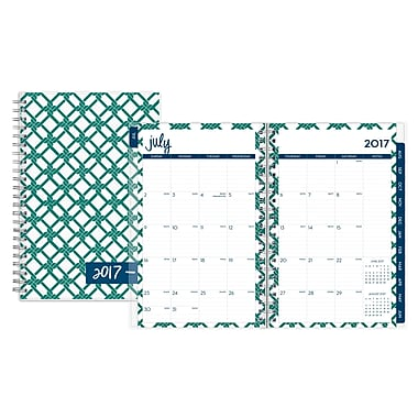 2017-2018 Dabney Lee for Blue Sky 5x8 Weekly/Monthly Planner, Chain Link (103206)