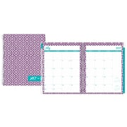 2017-2018 Dabney Lee for Blue Sky 8.5x11 Weekly/Monthly Planner, Hexagon Deep Purple (103188)