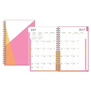 2017-2018 Blue Sky 5x8 Weekly/Monthly Planner, Sorbet (100249)