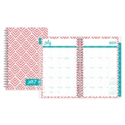 2017-2018 Dabney Lee for Blue Sky 5x8 Weekly/Monthly Planner, Fish Scales (103204)