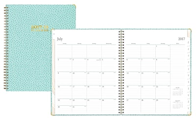 2017-2018 Blue Sky 5x8 Weekly/Monthly Planner, Laguna (100220)