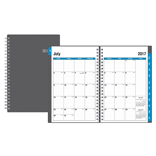 2017 2018 blue sky 5x8 weekly monthly planner collegiate 100139