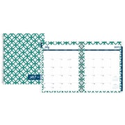 2017-2018 Dabney Lee for Blue Sky 8.5x11 Weekly/Monthly Planner, Chain Link (103205)