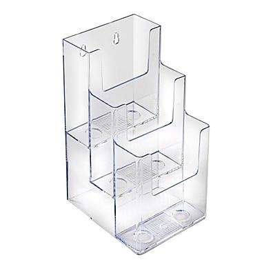 Azar Displays 3-Tier, 3-Pocket Trifold Brochure Holder, 2/Pack (252033)