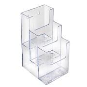 Azar Displays – Porte-brochure à 3 étages et 3 pochettes pour brochures à 3 plis, 2/paquet (252033)