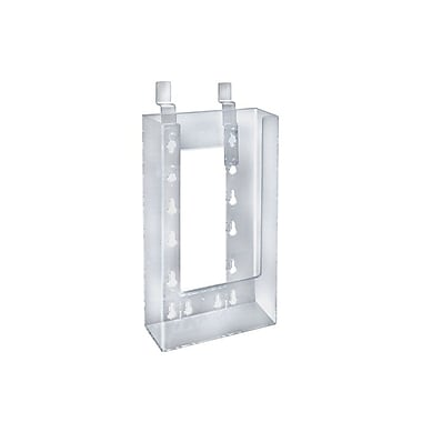 Azar Displays Tri-Fold Size Slatwall Brochure Holder, 10/Pack (252343)