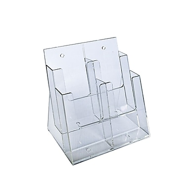 Azar Displays 2-Tier 4-Pocket Trifold Brochure Holder (252381)