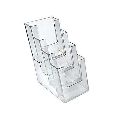 Azar Displays 4-Tier 4-Pocket Trifold Brochure Holder, 2/Pack (252388)