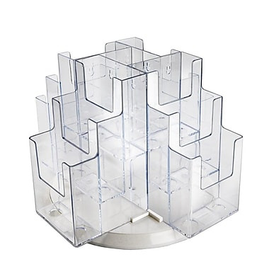 Azar Displays 12-Pocket Revolving Trifold Brochure Holder (252811)