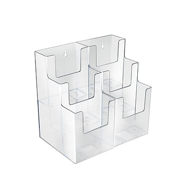 Azar Displays 3-Tier 6-Pocket Trifold Brochure Holder, 2/Pack (252815)