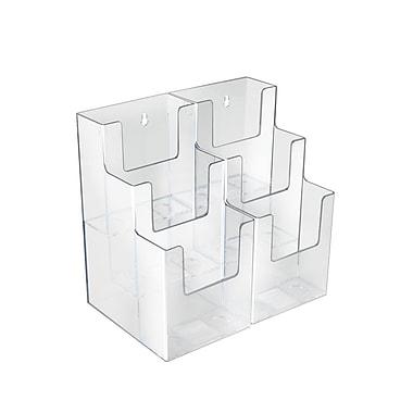 Azar Displays – Porte-brochures à 3 niveaux avec 6 pochettes et 3 pans, 2/paquet (252815)