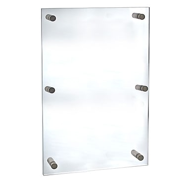 Azar Displays Acrylic Standoff Sign Holder, 24