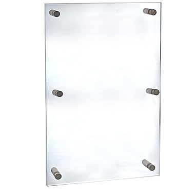 Azar Displays – Porte-affiche en acrylique avec entretoises, 30 x 40 po (105540)