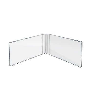 Azar Displays Acrylic Dual Frame Sign Holders, 7